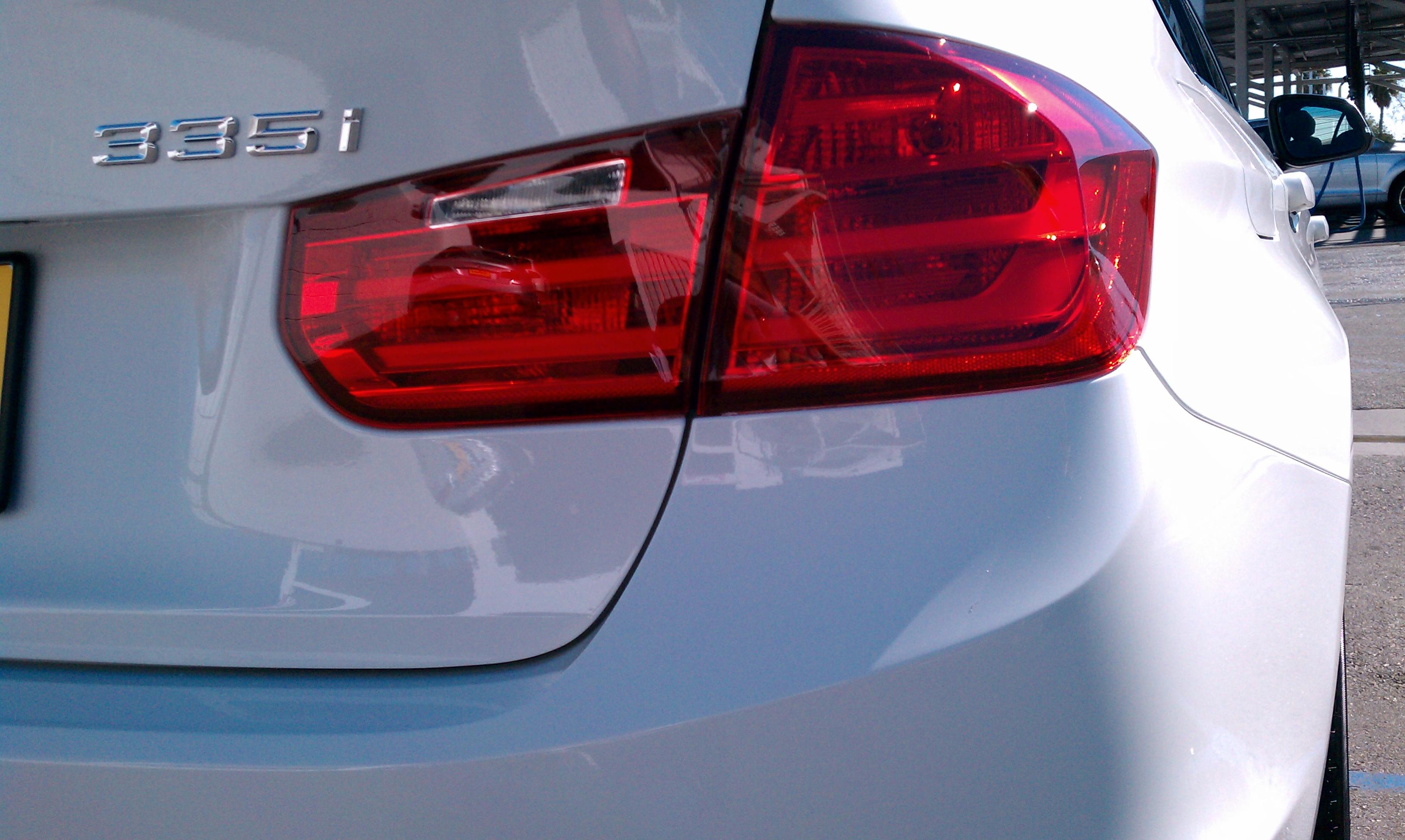 BMW 335i rear view